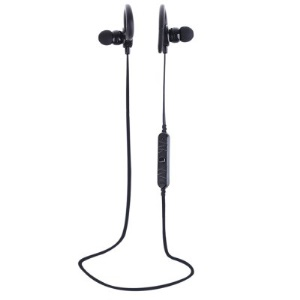 AWEI A620BL Sports Stereo Headphone Wireless Bluetooth V4.0 In-ear Earphone for iPhone/Samsung - Black