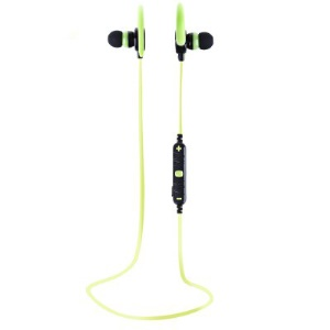 AWEI A620BL Sports Stereo Headphone Wireless Bluetooth V4.0 In-ear Earphone for iPhone/Samsung - Green
