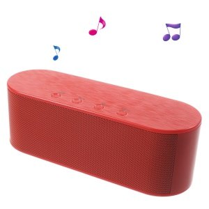 XC-Z2 Mega Bass Wireless Bluetooth Speaker with Mic Support TF Card/AUX Input - Red