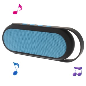 XC-24 Dual Horn Wireless Bluetooth Speaker Support TF Card/Aux-in with Handle - Blue