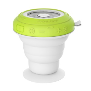 ROCK Pocket Party Suction Cup Bluetooth Speaker Light Twinkling Subwoofer - Green