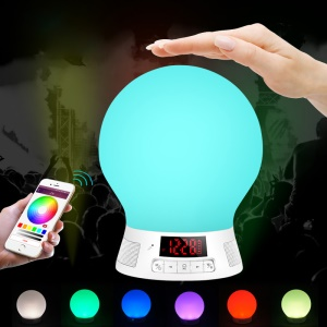BL-10 Wireless Bluetooth Hands-free Speaker Smart Seven-color LED Bulb Lamp