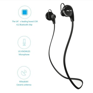 JAD QY8 Wireless Bluetooth 4.1 Headphone Sports Running In-ear Earphone with Mic