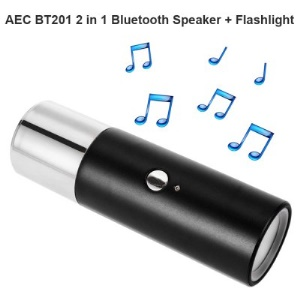 AEC BT201 2 In 1 Mini Bluetooth 3.0 Hands-free Speaker Flashlight Support TF Card - Black