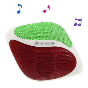 AITISIN A10 Stylish Wireless Bluetooth Speaker Support FM/TF Card/AUX Input - Red / Green