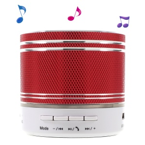S37U Stereo Bluetooth Hands-free Speaker Support TF Card FM Radio - Red