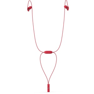 SYLLABLE A6 Necklace Style Bluetooth Stereo Sports Earphone (CE/RoHS Certified) - Red