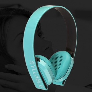 SYLLABLE G600 Over-ear Bluetooth V4.0 Wireless Headset with Mic for iPhone Samsung - Blue