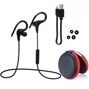 Q10 Wireless Bluetooth Sports Stereo Earphone with Remote Control - Black