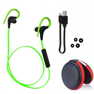 Q10 Wireless Bluetooth Sports Stereo Earphone with Remote Control - Green
