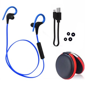 Q10 Wireless Bluetooth Sports Stereo Earphone with Remote Control - Blue