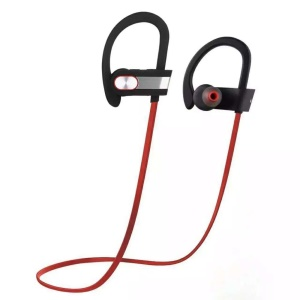 Q7 Sports Wireless Bluetooth In-ear Earphone Sweatproof Headset with Mic - Red