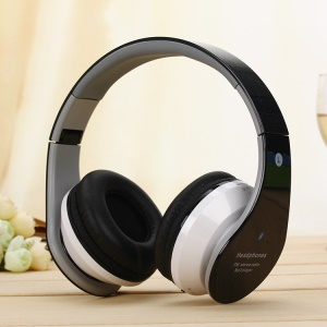 Bluetooth Mega Bass Over-ear Headphone Game Music Stereo Headset Support TF Card/FM - Black