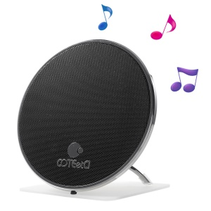COTEETCI Gyro Style Bluetooth 4.1 Stereo Speaker with Mic for iPhone Samsung - Black