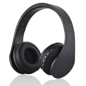 BTH-811 4 in 1 Over-ear Wireless Bluetooth Headphone with Mic Support FM/Aux-in/TF Card - Black