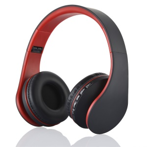 BTH-811 4 in 1 Bluetooth Wireless FM/TF Stereo Headphone Headset - Red