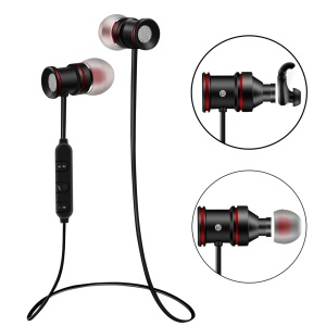 Wireless Bluetooth Sports Headphone Magnetic Earphone with Microphone (BTH-828) - Black