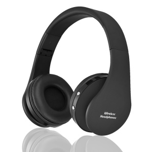 NX-8252 Foldable Wireless Bluetooth Over-ear Headphone Headset with Mic - Black