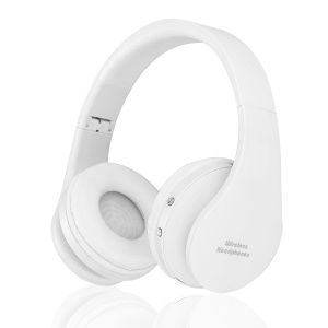 NX-8252 Foldable Wireless Bluetooth Over-ear Headset Headphone with Mic - White