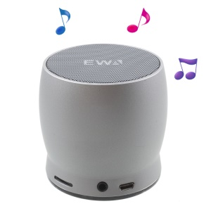 EWA A150 Wireless Bluetooth HiFi Speaker Subwoofer with Mic TF Card Slot AUX-in - Silver