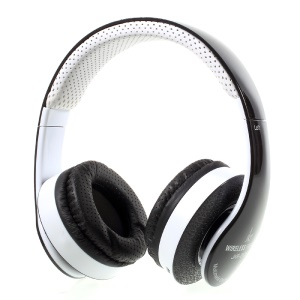 JKR-212B Wireless Bluetooth Stereo Headphone Support Hands-free Call FM Radio - Black / White
