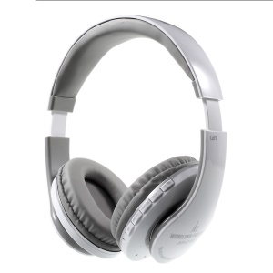 JKR-213B Wireless Bluetooth Stereo Over-ear Headphone with Mic Support FM/TF Card - Grey
