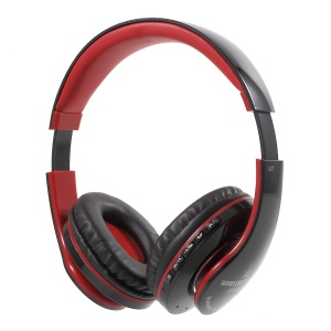JKR-213B Bluetooth Stereo Over-ear Wireless Headset with Mic Support FM/TF Card - Red