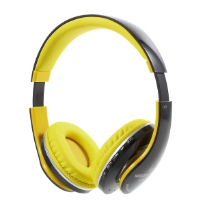JKR-213B Stretchable Wireless Stereo Over-ear Bluetooth Headphone with Mic - Yellow