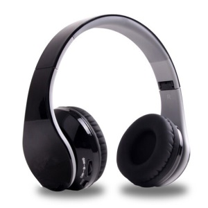BL-09 Wireless Bluetooth Stereo Over-ear Headphone 3.5mm Line-in TF Card FM Hands-free with Mic - Black