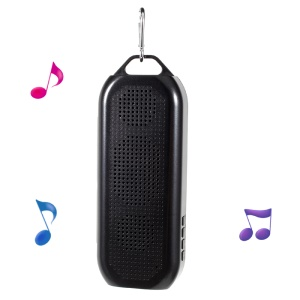 JC-178 Hands-free Wireless Bluetooth Speaker with FM Radio Support TF Card - Black
