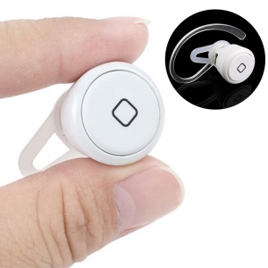 Super Mini Bluetooth V3.0 Single Earphone Headset with Microphone (YE-106S) - White