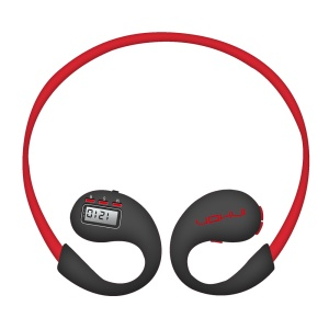 INHON B3 Wireless Bluetooth 4.1 Neckband Headphone with Pedometer - Red