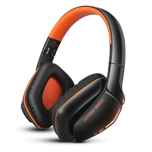 KOTION EACH B3506 Bluetooth Headphone Foldable Gaming Headset with Mic - Black / Orange