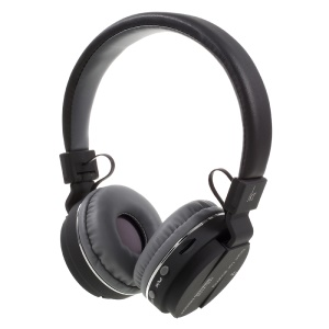 JKR-215B Stretchable Bluetooth Mega Bass Over-ear Headphone with Mic Support FM/TF Card - Black
