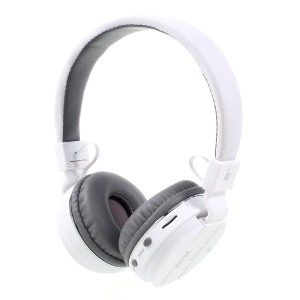 JKR-215B Mega Bass Over-ear Wireless Bluetooth Headphone with Mic Support FM/TF Card - White