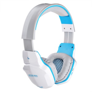KOTION EACH B3505 Wireless Bluetooth Over-ear Gaming Headset with Mic - White / Blue