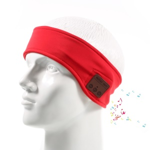 Wireless Bluetooth Sweat-proof  Sleep Headphone Hands-free Headband with Mic - Red