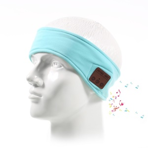 Wireless Bluetooth Sports Headphone Hands-free Headband with Mic - Blue