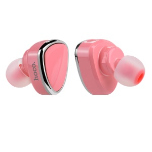 HOCO E7 Mini Bluetooth Earphone Wireless Bluetooth Earbud Headset with Mic - Pink