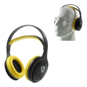 OVLENG Over-ear Mega Bass Bluetooth 4.1 Headset Support Microphone /TF Card/FM MX555 (CE,RoHS) - Black / Yellow