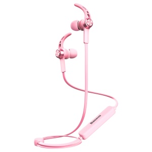 BASEUS B11 Licolor Magnet Bluetooth Earhook Earphone for iPhone Samsung Etc. - Sakura Pink