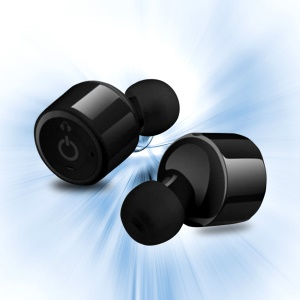 X1T Mini Invisible Earphones Wireless Bluetooth V4.2 Stereo Music In-ear Headset with Mic - Black