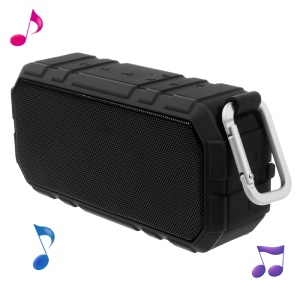 X19 2-In-1 Portable Outdoor Bluetooth Speaker Support TF Card/AUX-in + 4000mAh Power Bank - Black
