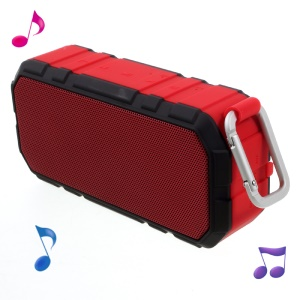 X19 Portable IPX4 Bluetooth Hands-free Speaker + 4000mAh Power Charger - Red