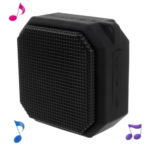 X3 Portable Bluetooth Speakers with Colorful LED Lights Build-in Mic Support Aux-in/FM Radio/TF Card - Black