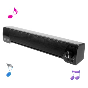 Soundbar LP-09 Wireless Mega Bass Bluetooth Speaker with Mic Support FM/TF Card/U Disk/AUX - Black