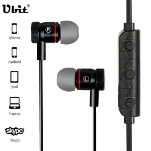 M9 Metal Magnetic Sports Bluetooth 4.1 Stereo In-ear Earphone - Black