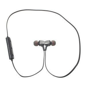 M6 Metal Magnetic Sports Bluetooth CSR4.1 Stereo In-ear Earphone for iPhone 7 - Black