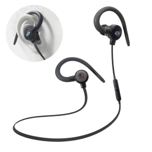 VORSON Magnetic Bluetooth V4.1 Headset Ear Hook Sport Earphone with Mic (VE-001) - Black