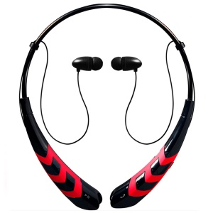 HBS-760S Bluetooth 4.0 Stereo Headset Sports Neckband Headphone with Breathing Light for iPhone Samsung Etc - Red / Black